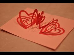 How to make a Valentine's Day Pop Up Card: Spiral Heart - YouTube