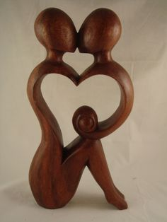 A Romance in My Heart Sculpture made from Mahogany Wood!!!
