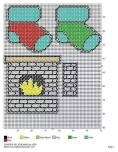 Fireplace coasters