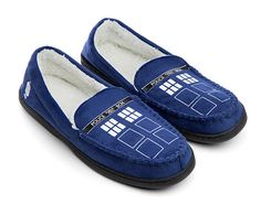 TARDIS Moccasin Slippers Are Perfect Companions For The Coldest Reaches Of Time And Space -  #drwho #fashion #tardis