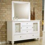 Coaster Furniture - Sandy Beach White Dresser and Mirror Set - 201303-201304