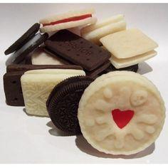 Biscuit Soap Set – Oreo, jammy dodger, custard cream & bourbon- yummy fun food by Bits N Bobs on Folksy £3.00