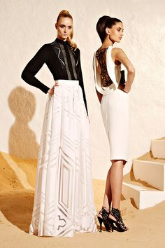 Zuhair Murad Resort Collection 2015 One can never go wrong with black and white. Gorgeous black and white Zuhair Murad RESORT 2015 cocktail dress with scoop back detail. Fashion Week, Runway Fashion, High Fashion, Fashion Show, Womens Fashion, Fashion Design, Net Fashion, Travel Fashion, Latest Fashion