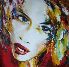 sauvage - Peinture, 90x90 cm ©2007 par Christian Vey -