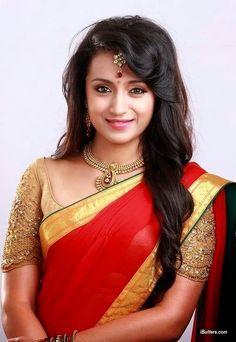 Indian Film Actress, South Indian Actress, Indian Actresses, Trisha Saree, Trisha Actress, Trisha Krishnan, Top Celebrities, Beauty Pageant, Beautiful Saree