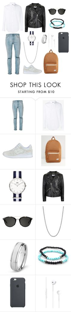 """men's  polyvore"" by jesy-smith ❤ liked on Polyvore featuring Topman, Gucci, Asics, Herschel Supply Co., Carrera, Loren Stewart, West Coast Jewelry, men's fashion and menswear"
