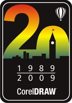 20 th anniversary CorelDRAW logo