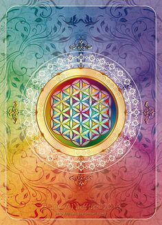 Flower of Life Sticker Window Decal Postcard Sacred Geometry Mandala Esoteric Sacred Symbols, Sacred Art, Mandalas Drawing, Mandala Art, Wallpaper Gallery, Crystal Grid, Flower Of Life, Art Pages, Fractal Art