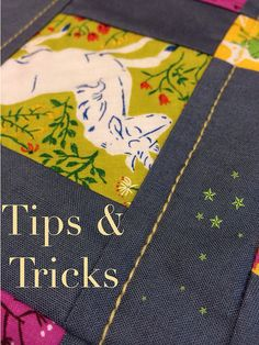 Tips & Tricks - Quilting with 12 Wt thread. Need to remember this! For a handmade look on quilts!