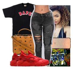 """"""""""" by kodakdej ❤ liked on Polyvore featuring A BATHING APE, MCM, Casetify and NIKE"""