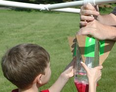Need a fun #DIY project to do with kids? Build your own backyard rockets like these.