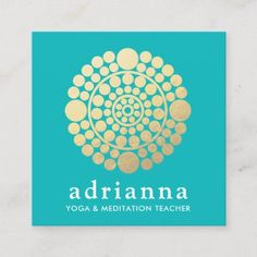 Shop Modern Gold Circle Mandala Turquoise Square Business Card created by sm_business_cards. Simple Mandala, Photo Blocks, Beauty Consultant, Modern Business Cards, Buddha, Marketing Materials, Branding Design, Design Inspiration, Brand Design
