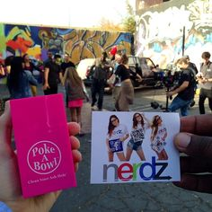 @Poke A Bowl® Clean Your Ash Hole® and @nerdzmag on set hanging out! ✌️   Shop www.PokeABowl.com - Clean Your Ash Hole®