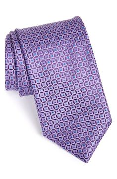 Canali Geometric Grid Silk Tie available at #Nordstrom