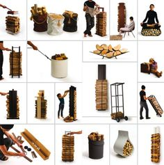 Sometimes a situation calls for a single design solution, while at other times a clever idea can spawn a whole set of unique and innovative furniture designs. AK47 Design has chosen an unlikely subject – firewood storage – to be the basis of an incredible series of design ideas.