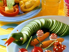 Snakes and snails fun food