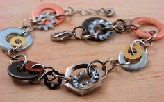 Recycled Metal Jewelry #recycledjewelry #metalbracelet #recyledbracelet