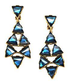 Oscar de la Renta Triangle Chandelier Earrings - ShopBAZAAR