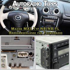 Der Mazda MX5 Typ NB/NB-FL von 2001 – 2005 ist mit einem Werksradio ausgestattet meist in der Farbe Silber oder schwarz. Das Werksradio geht sehr einfach auszubauen mit den passenden Entriegelungsb…