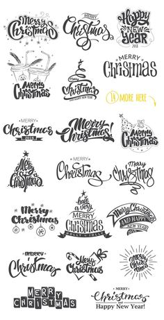 20 Christmas Photo Overlays by Rosline on @creativemarket Trendy graphic design art for a merry christmas, perfect for decorations, crafts, pictures, gifts, DIY, cards or simple for ideas and inspiration.