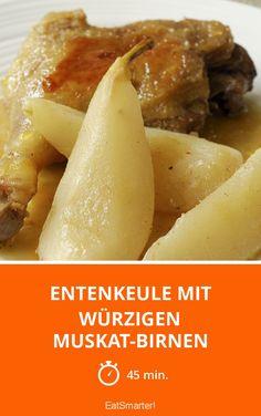 Entenkeule mit würzigen Muskat-Birnen - smarter - Zeit: 45 Min. | eatsmarter.de