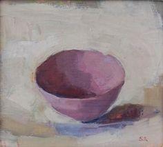Sarah Soackman still-life-Pink Bowl oil painting