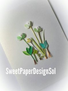 Paper Quilling Art. Handmade quilling card for Any Occasion.