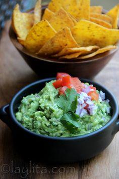 Receta del guacamole