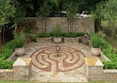 The Labyrinth Garden - cherished for centuries, and this one is small enough for many gardens.