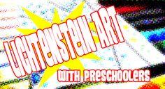 Pop Art Art for Kids inspired by Roy Lichtenstein