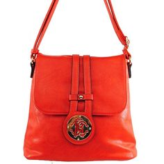 Click Here and Buy it on Amazon.com Price:$27.99 Amazon.com: Alyssa New Arrival Fashion Unique Solid Turn Over Top Detailed Solid Messanger Bag / Crossbody Bag in Orange: Clothing