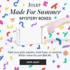 Don't miss May's Julep Maven Mystery Boxes! Choose from 3 amazing mystery boxes filled with with $100+ of beauty and nail polish, for just $24.99 + FREE shipping!  http://www.findsubscriptionboxes.com/a-closer-look/new-julep-maven-may-2017-made-for-summer-mystery-boxes/?utm_campaign=coschedule&utm_source=pinterest&utm_medium=Find%20Subscription%20Boxes&utm_content=New%20Julep%20Maven%20May%202017%20Made%20for%20Summer%20Mystery%20Boxes  #JulepMaven