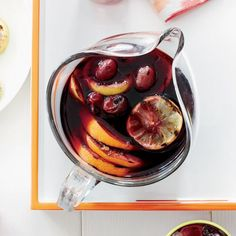 From sangria studded with grilled-fruit to refreshing cucumber margaritas, here are seven terrific pitcher drinks to make this Memorial Day. Sangria Recipes, Cocktail Recipes, Wine Recipes, Party Recipes, Grill Recipes, Burger Recipes, Smoothie Recipes, Steak Tacos, Milk Shakes