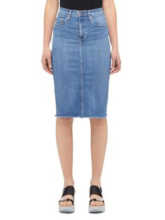 Cult Longline Pencil Skirt | New Arrivals | The Latest | Women | Nobody Denim