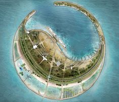 Diller Scofidio + Renfro ganan concurso para una Eco-Isla en China,1º Lugar: Diller, Scofidio + Renfro. Imagen cortesía de Guallart Architects