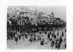 Bathers & the Boardwalk Ocean City Maryland  #ocmd