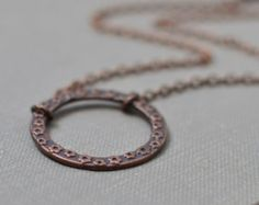 Circle Necklace Copper Necklace Infinity Necklace Eternity Necklace Karma Necklace Everyday Necklace Yoga Necklace Handmade Necklace