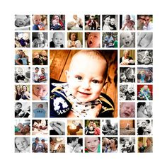 template #photo #20x20 template #baby first year 20x20 inch .psd ...