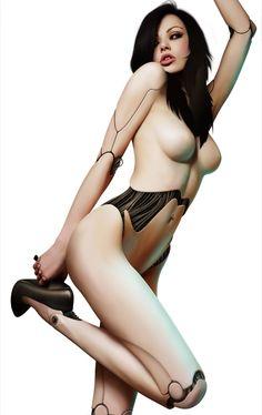 future, futuristic, future girl, android girl, cyber girl, sexy robot girls, Vikki Blows, female bot, future girl, cyborg girl, digital art, by FuturisticNews.com