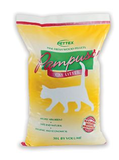 Pettex Pampuss Woodbase Cat Litter 30 Litre: Amazon.co.uk: Pet Supplies