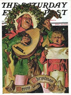 """Christmas Minstrels,"" Dec. 21, 1929, by J. C. Leyendecker"