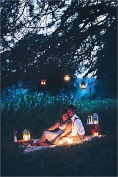 Dusk picnic wedding inspiration