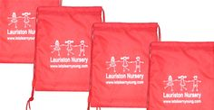 Screen printed gymsack bags idea for all school snd clubs.
