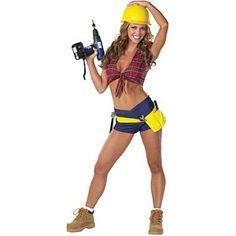 Costume sexy worker halloween construction
