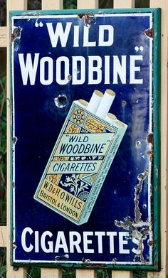Wild Woodbine Cigarettes poster