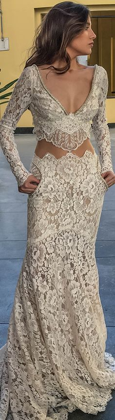 Hey, does this gown have pockets! DS Luxury Bridal Dresses- Galia Lahav Haute Couture jα Elegant Dresses, Nice Dresses, Bridal Dresses, Prom Dresses, Dresses 2016, Wedding Gowns, Robes Glamour, Looks Style, Mode Style