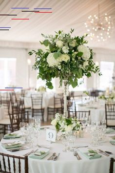 Chic White and Green Wedding Centerpiece Ideas - Oh Best Day Ever white and green tall wedding centerpieces for 2017 trends Tall Flower Arrangements, Wedding Flower Arrangements, Table Arrangements, Green Wedding Centerpieces, Wedding Decorations, Centerpiece Ideas, Centerpiece Flowers, Floral Centrepieces, Simple Centerpieces