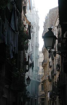 """paisaje urbano """"El Born"""" is a neighborhood in the heart of Barcelona, Spain. You can find the original version of this picture here Places Around The World, Oh The Places You'll Go, Places To Travel, Around The Worlds, Urban Photography, Street Photography, Landscape Photography, Grunge Photography, Scenery Photography"""