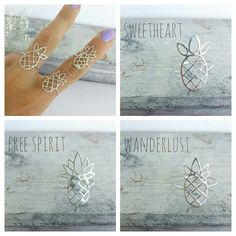 Pineapple rings from our Free Spirit collection! Elegant and playful. Awaken your inner child and let your free spirit soar!    Chose a Single