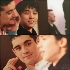 """there's this air around them that i can't quite explain~~💘 . Part 2 of """"gazing-when-the-other-isnt-looking 😉 . Yuzuru Hanyu Javier Fernandez, Ballet Stretches, Boyfriend Kpop, Ice Skaters, Olympic Champion, This Is Love, Living Legends, Hanyu Yuzuru, Sport Girl"""
